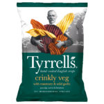Calories in Tyrrells Crinkly Veg with Rosemary & Wild Garlic Parsnip, Carrot & Beetroot
