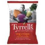 Calories in Tyrrells Veg Crisps with a Dash of Maple Parsnip, Beetroot & Sweet Potato