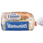 Calories in Warburtons Danish Lighter White Bread
