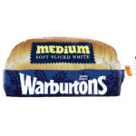 Calories in Warburtons Medium Soft Sliced White
