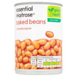 Calories in Essential Waitrose Baked Beans in Tomato Sauce