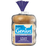 Calories in Genius Gluten Free Plain Bagels