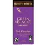 Calories in Green & Black's Organic Burnt Toffee Dark Chocolate