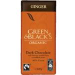 Calories in Green & Black's Organic Ginger Dark Chocolate