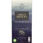 Calories in Green & Black's Velvet Edition Dark Chocolate 70% Cocoa