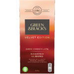 Calories in Green & Black's Velvet Edition Dark Chocolate Roasted Almond