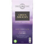 Calories in Green & Black's Velvet Edition Dark Chocolate Salted Caramel