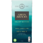 Calories in Green & Black's Velvet Edition Dark Chocolate Sea Salt