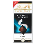Calories in Lindt Excellence Coconut Intense Dark