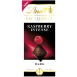 Calories in Lindt Excellence Raspberry Intense Dark