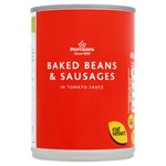 Calories in Morrisons Baked Beans & Sausages in Tomato Sauce