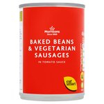 Calories in Morrisons Baked Beans & Vegetarian Sausages in Tomato Sauce