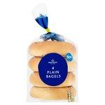 Calories in Morrisons Plain Bagels