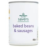 Calories in Morrisons Savers Baked Beans & Sausages