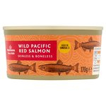 Calories in Morrisons Wild Pacific Red Salmon Skinless & Boneless