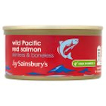 Calories in Sainsbury's Wild Pacific Red Salmon Skinless & Boneless