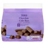 Calories in Tesco Chocolate Cake Bars