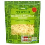 Calories in Asda Grated Cheddar & Mozzarella Cheese Blend Smooth & Creamy