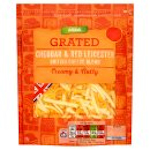 Calories in Asda Grated Cheddar & Red Leicester British Cheese Blend Creamy & Nutty