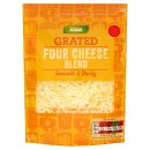 Calories in Asda Grated Four Cheese Blend Smooth & Tasty