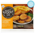 Calories in Hearty Food Co. 20 Breaded Chicken Nuggets
