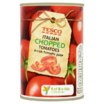 Calories in Tesco Italian Chopped Tomatoes in Rich Tomato Juice
