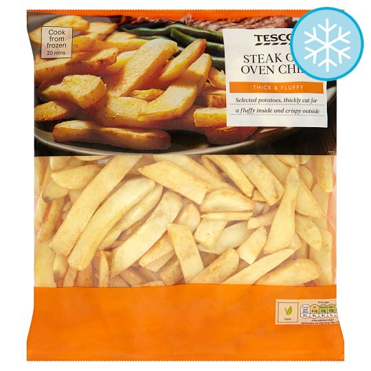 Calories In Tesco Steak Cut Oven Chips Thick Fluffy