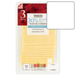Calories in Tesco 30% Reduced Fat Mature Cheese Rich & Versatile