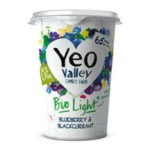 Calories in Yeo Valley Bio Light Blueberry & Blackcurrant 0% Fat