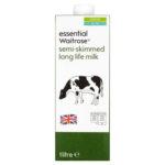 Calories in Essential Waitrose Semi-Skimmed Long Life Milk