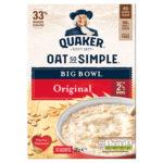Calories in Quaker Oat So Simple Big Bowl Original Sachets