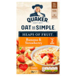 Calories in Quaker Oat So Simple Heaps of Fruit Banana & Strawberry Sachets