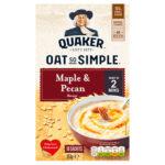 Calories in Quaker Oat So Simple Maple & Pecan Flavour Sachets