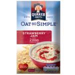 Calories in Quaker Oat So Simple Strawberry Jam Flavour Sachets