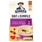 Calories in Quaker Oat So Simple Sultanas, Raisins, Cranberry & Apple Sachets