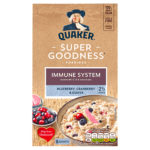 Calories in Quaker Super Goodness Porridge Immune System Blueberry, Cranberry & Guava Sachets