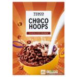 Calories in Tesco Choco Hoops Chocolatey Crunch