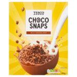 Calories in Tesco Choco Snaps Milk Chocolatey