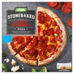 Calories in Asda Stonebaked Double Pepperoni Pizza