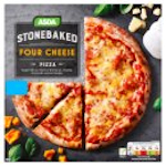 Calories in Asda Stonebaked Four Cheese Pizza