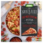 Calories in Asda Thin Stonebaked Spicy Meat Feast Pizza