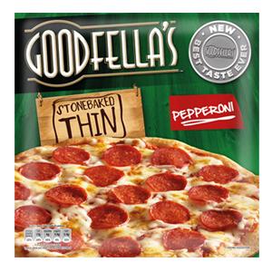 Calories In Goodfellas Stonebaked Thin Pepperoni