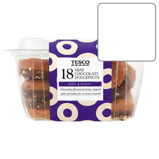 Calories In Tesco 18 Mini Chocolate Doughnuts Soft Fluffy