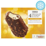 Calories in Tesco 4 Chocolate & Almond Ice Creams Belgian Chocolate