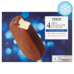 Calories in Tesco 4 Milk Chocolate Ice Creams Belgian Chocolate