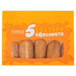 Calories in Tesco 5 Custard Doughnuts