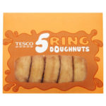 Calories in Tesco 5 Ring Doughnuts