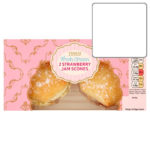 Calories in Tesco Fresh Cream 2 Strawberry Jam Scones