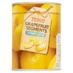 Calories in Tesco Grapefruit Segments in Light Syrup