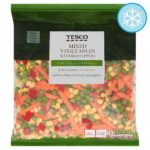 Calories in Tesco Mixed Vegetables with Red Peppers Carefully Prepared